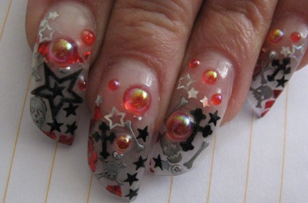 My Calico Halloween Haunt Nails.