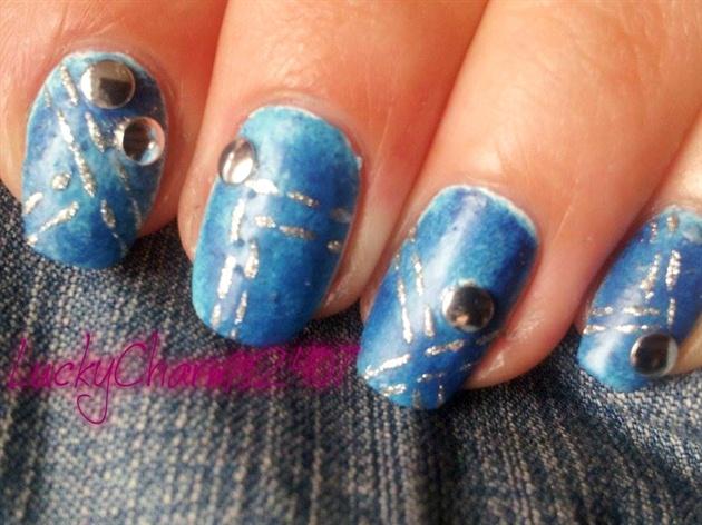 Denim Jeans Nail Art