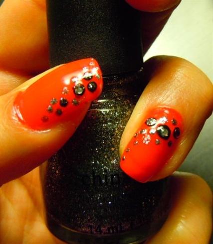 Christmas/Holiday Red Glamour Nail art