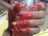 orange fruits nails