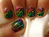 Rainbow Crackle Nail Design