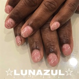 Pink quartz crystal