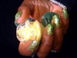 3D HD Green Glitter