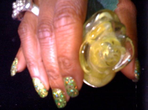 3D HD Green Glitters...