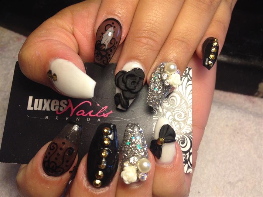Sheer Black Nails - Nail Art Gallery
