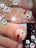 Hello Kitty Toes