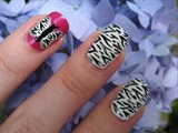 Summer Zebra Butterfly Nail Art