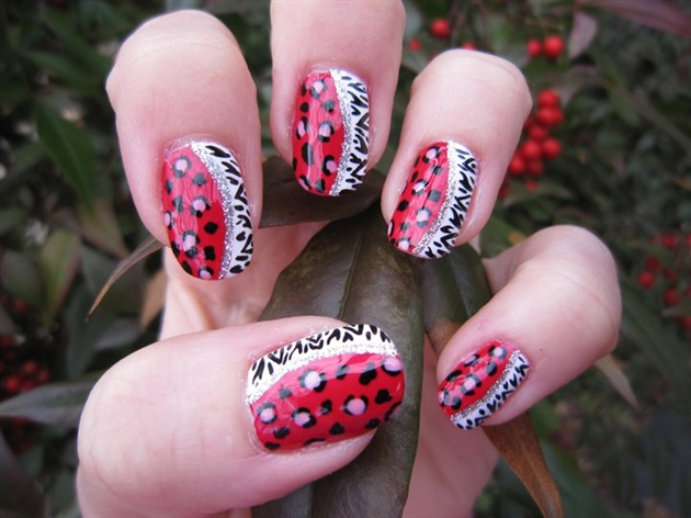 Wild animal print nail art nail art gallery wild animal print nail art prinsesfo Images