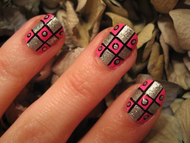 Girly squared nail art nail art gallery girly squared nail art prinsesfo Gallery