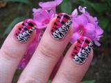 Zebra Meets Tiger Nail Art