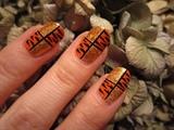 Glitter Tiger Print Square Nail Art
