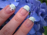 Mint Green French Tip Nail Art