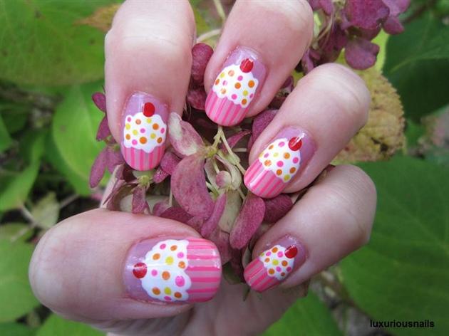 Cupcake birthday nail art nail art gallery cupcake birthday nail art prinsesfo Choice Image