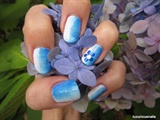 Ombre Flower Nail Art