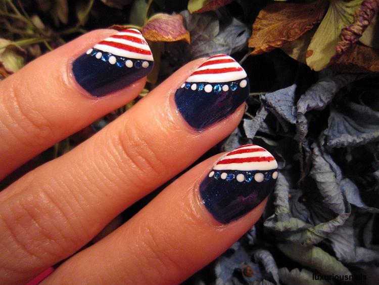 Usa Olympic Nail Art Nail Art Gallery