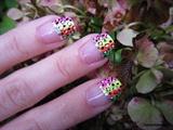 Disco Neon Leopard Nail Art