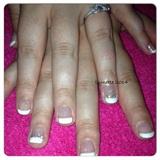 Bridal - French Manicure & Swarovski's