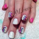 Pink & White Gel Polish