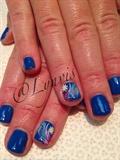 Blue Tiny Flowers