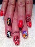 Halloween airbrush Nails