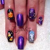 Purple Halloween Nailart