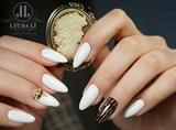 White nails, perfect manicure