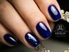 Blue nails, perfect manicure