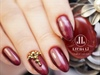 Wine red nails, perfect manicure