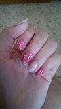 Stamping roses nail art