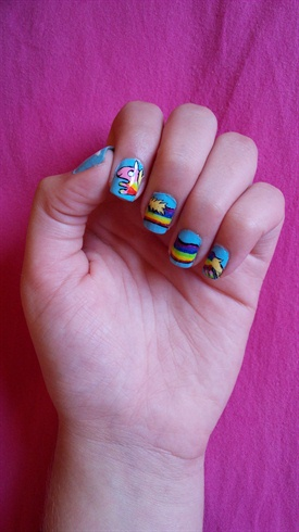 Lady Rainicorn Adventure time nails
