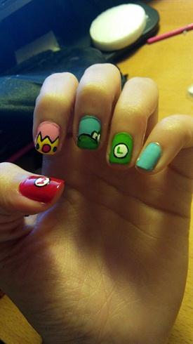 Mario Bros nails