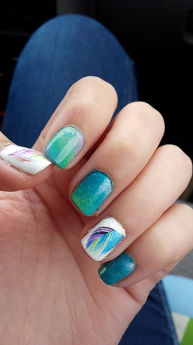 Degraded feather nails