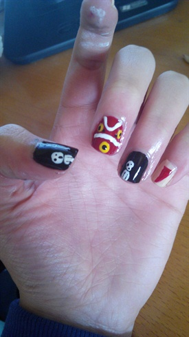 Mononoke princess nails