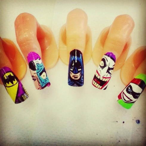 Batman nails nail art gallery batman nails prinsesfo Image collections