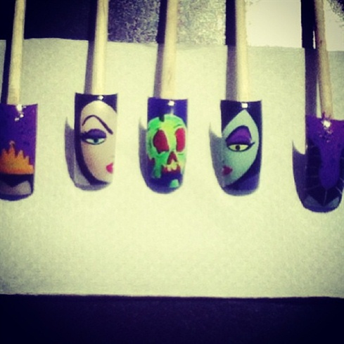 Disney Villains Nail Art Gallery
