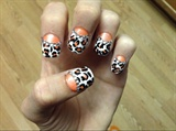 Cheetah Half Moon Manicure