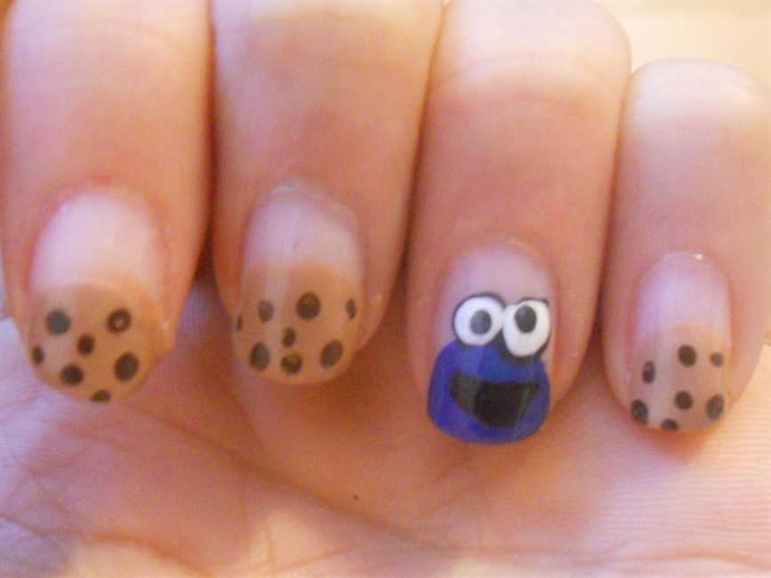 Cookie monster inspired by cutepolish nail art gallery prinsesfo Image collections