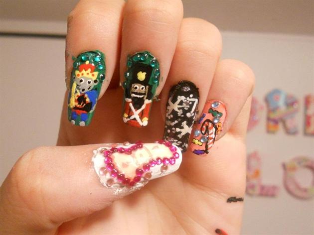 Nutcracker Theme Nail Art Gallery