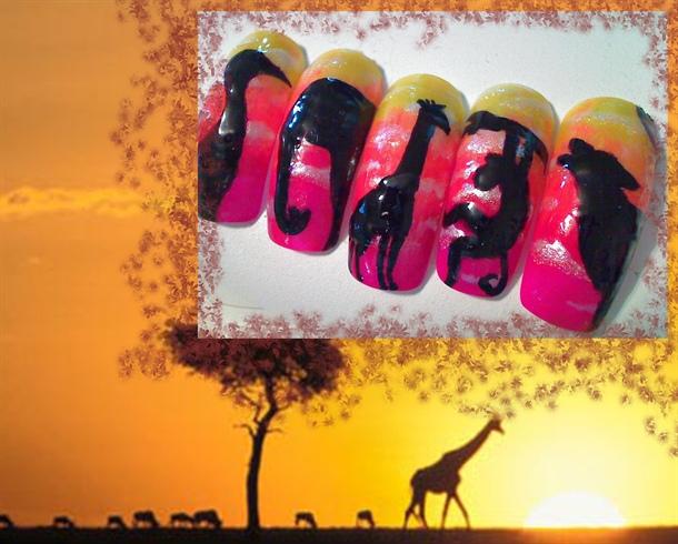 wild life silhouette's