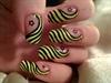 dizzy busy bee nail art