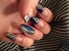 Blue Zebra nail art!