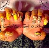Yellow Square Nails