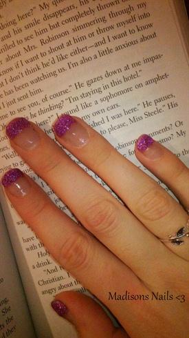 Purple Acrylic Tips
