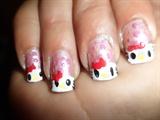 Hello Kitty Nail Art by Madjennsy