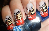 Butterfly Silhouette nail design