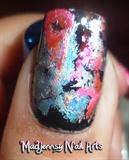 Mixed Metals Foil Nail Art