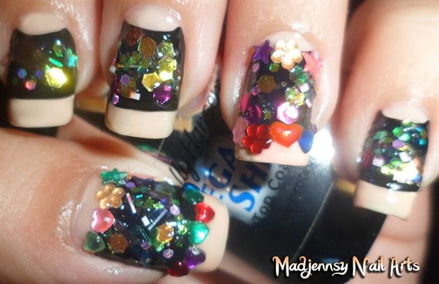 Edgy Glitzy Nails!