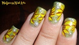 Cute Sunflowers Nail Art