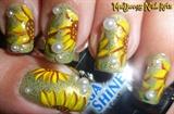 Cute Sunflowers Nail Art