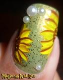 Easy Cute Sunflowers Nail Art